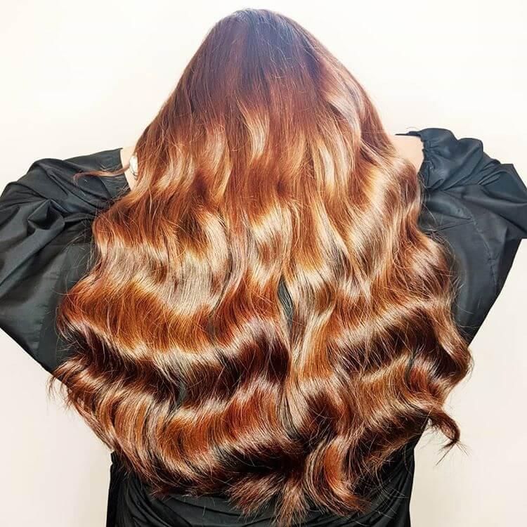 luxury auburn russian hair extensions