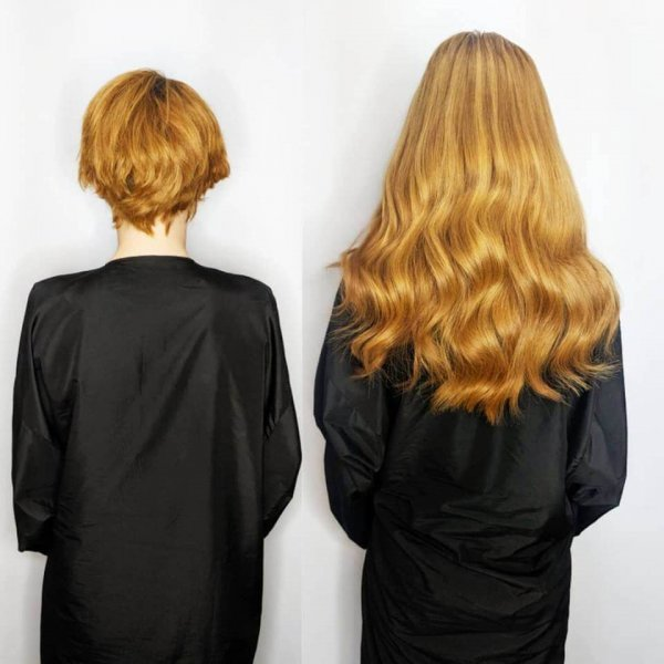 Copper Russian Hair Extensions Client Gallery