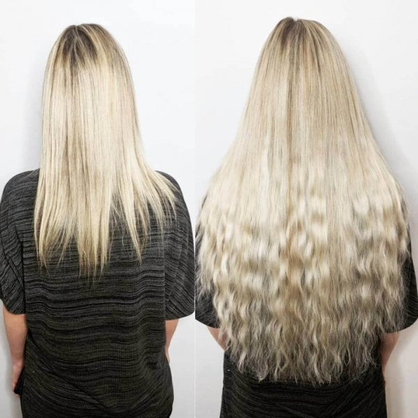 Mermaid Styled Russian Hair Extensions Client Gallery