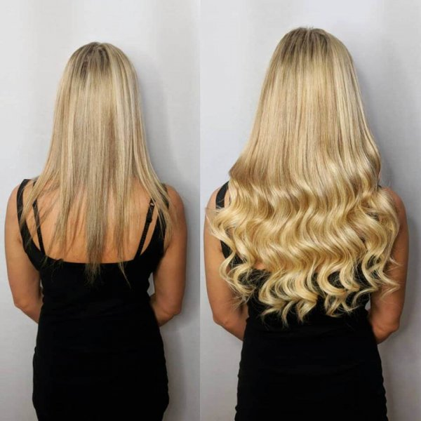 Russian Hair Extensions Before and After Client Gallery