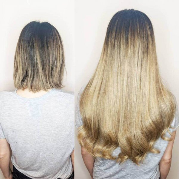 Sandy Blonde Russian Hair Extensions Client Gallery