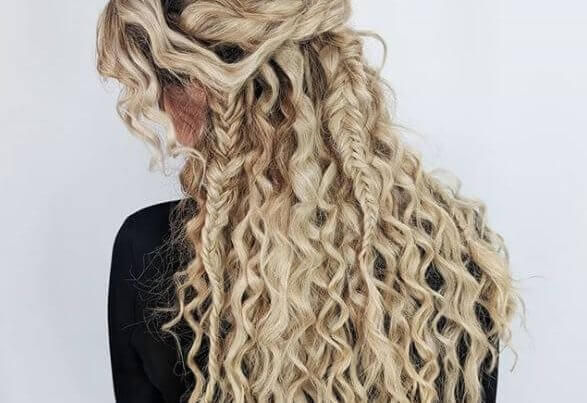 long blond fishtail braids hair extensions leeds