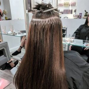 brunette micro ring extensions yorkshire