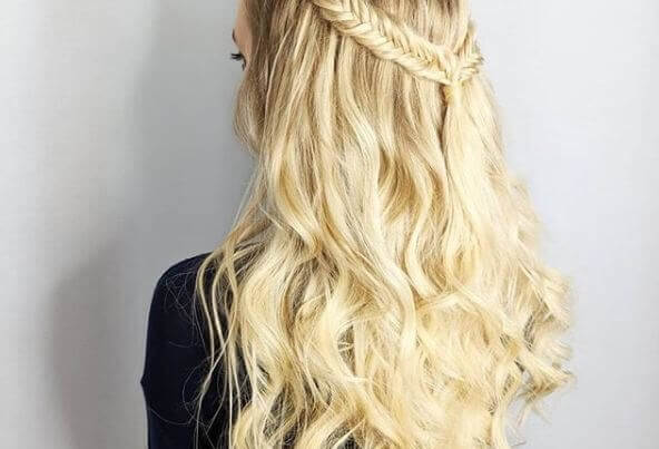 blond part braided hair extensions yorkshire