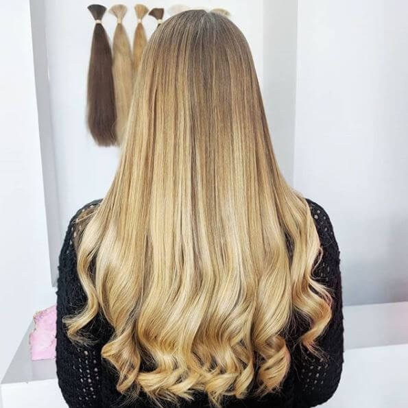 natural blond soft wave hair extensions yorkshire